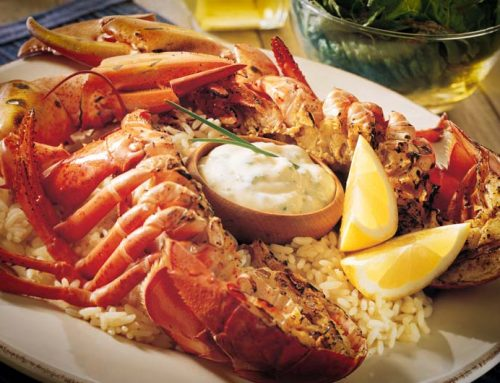 Grilled Lobster with Garlic Chive Mayonnaise