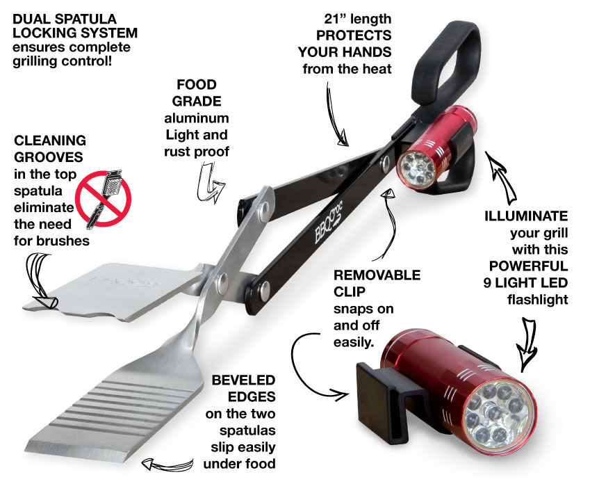 Night time grilling with BBQ Croc Flashlight
